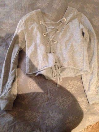 Garage pull over sweater crew neck grey small