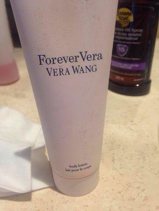 Vera wang forever body lotion used twice almost full
