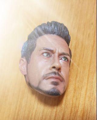 Tony Stark Iron Man 頭雕  適合 Hot Toys hottoys figure 12 吋人偶 Ironman Avengers Marvel 威漫 復仇者聯盟 鐵甲奇俠