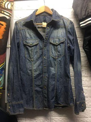 M號 #班尼頓benetton  #修身版 牛仔襯衫🌸深橘14