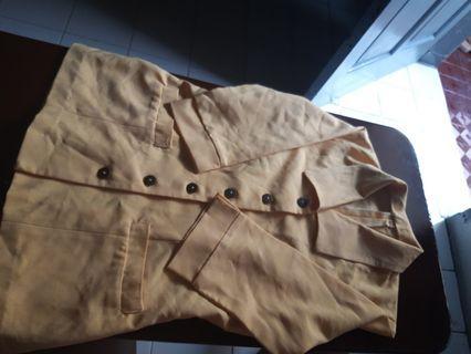 (Jual 2nd) blazer wanita lengan 3/4 warna kuning