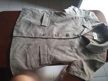 (Jual 2nd) blazer kerja merk Elmor warna abu2 kehijauan