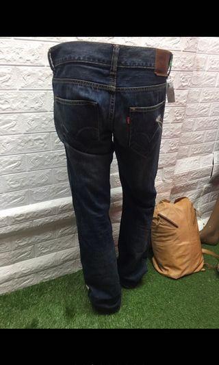 33腰可w32偏大 Levis523 刷破設計牛仔褲🌸深橘8