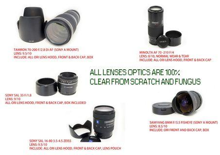 [used] Sony cameras lenses flashes to let go