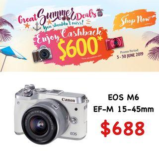 Canon EOS M6 with 15-45mm