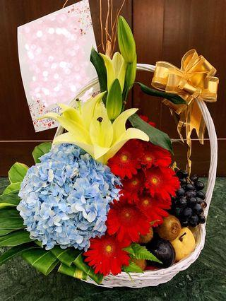 Flowers and Fruits Basket (Get Well Soon)