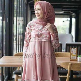 Blouse batik, batik modern,  baju atasan