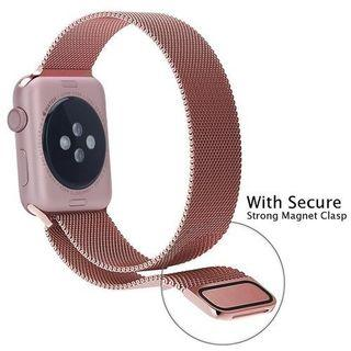 [READY STOCK] Pink rose gold Metallic stainless steel milanese mesh loop for iwatch series 4, 44mm, 42mm, 40mm, 38mm apple watch series 4 3 2 1