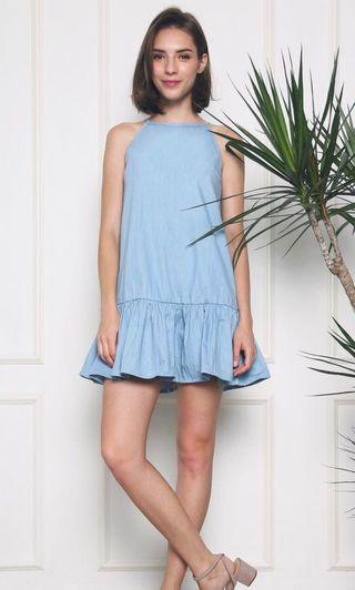 Hollyhoque Alesia Dropwaist Denim Dress