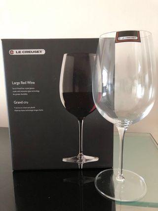 (再減)LE CREUSET 全新紅酒杯