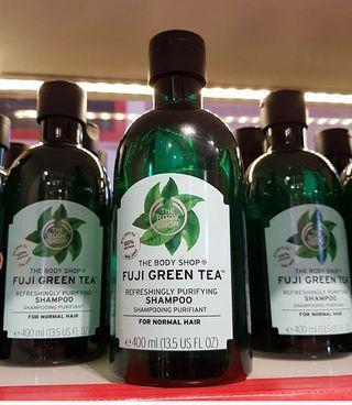the body shop fuji green tee shampoo