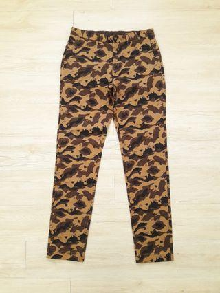 Takeo kikuchi military camo style design slack pants