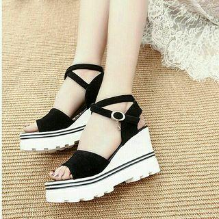 👠Cross Tied Wedges Sandals👠