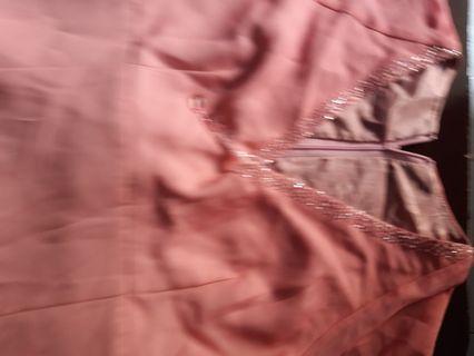 (Jual 2nd) Gaun Pesta warna pink gradasi