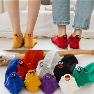🚚 SM08 eye emoji heelpiece cotton socks