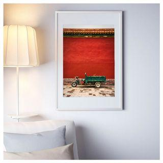 """Open Edition Print of """"The Green Rickshaw"""" with Frame (61 x 91 cm)"""