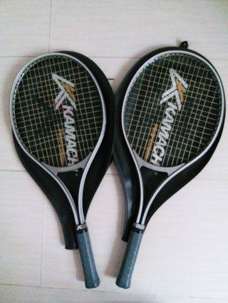 網球拍2支=平售$90一對連套