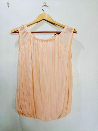 Sfera chiffon pink sleeveless top