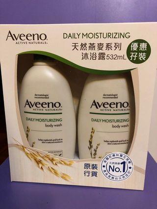 Aveeno 天然燕麥糸列保濕沐浴露 532 ml 優惠孖裝