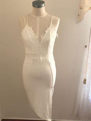 Blossom gorgeous white lace dress