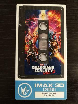 MARVEL [銀河守護隊VOL.2]GUARDIANS OF THE GALAXY VOL.2 美國IMAX珍藏版紀念戲票