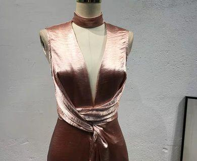 Rose Gold Sexy Dinner Dreas