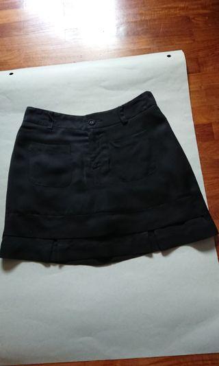 Culottes Black Plain