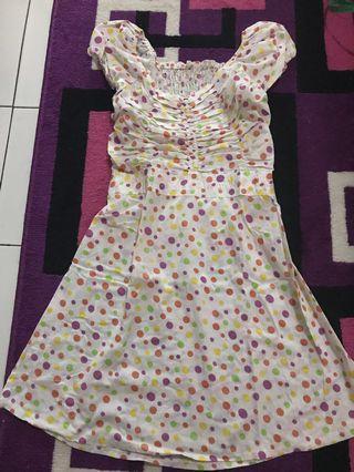 Preloved short dress polkadot