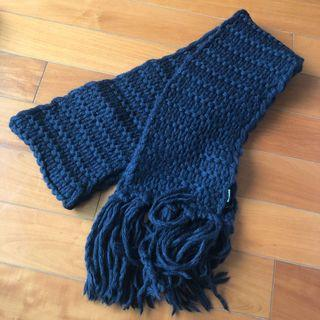 🇮🇹United Color of Benetton scarf navy 意大利製深藍色頸巾 *** 只限順豐到付不設面交 SF delivery paid by receiver only ***