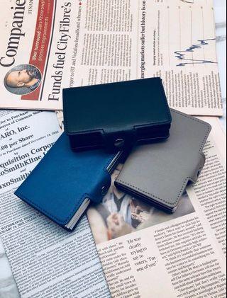 真皮防盜卡包 mini safecard wallet