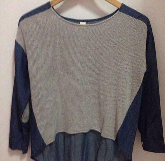 blouse denim korea
