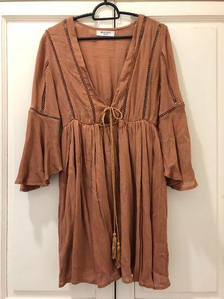 Brown Boho Top