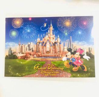 珍藏全新🇨🇳上海迪士尼度假區 開幕 米奇米妮老鼠城堡 名信片 SHANGHAI DISNEY RESORT GRAND OPENING MICKEY MINNIE MOUSE CASTLE DUCK STAMP POSTCARD