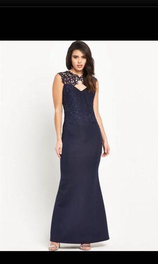 Lipsy evening dress in navy blue