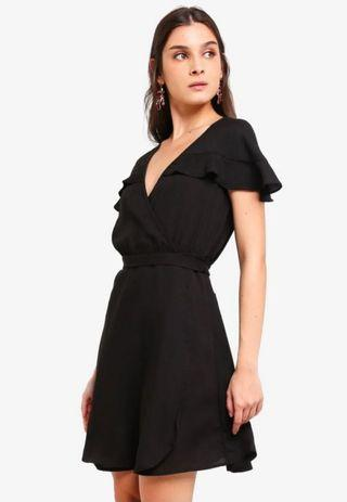 Zalora Black Wrap Dress