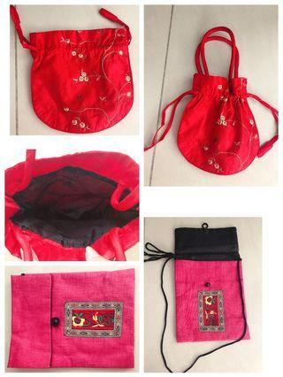 🚚 Red packet bag orange carrier bag slung bag Hp