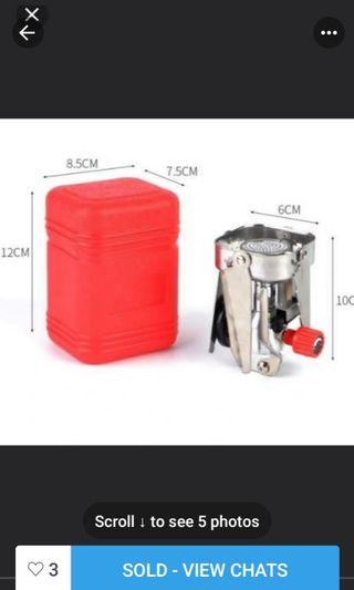 Solo camping Ultralight stove and pot