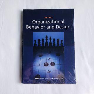 AB1601 Organizational Behavior and Design Textbook