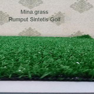Karpet Rumput Sintetis Golf 1x1 m tinggi 1 cm
