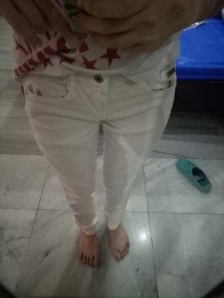 Celana Jeans Peach Bershka Pink
