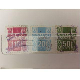 🚚 Singapore Postage Due Stamps - 1981/1989 Series