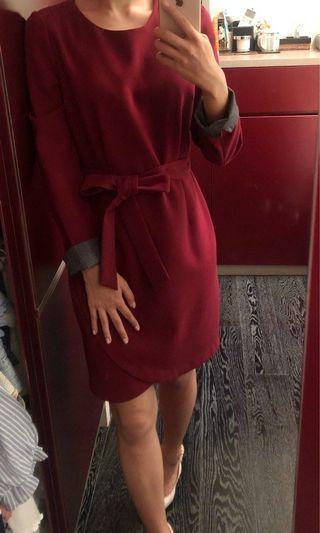 Burgundy dress from Korea