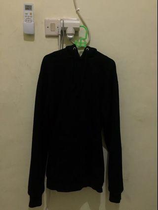 H&M Basic Hoodie Black