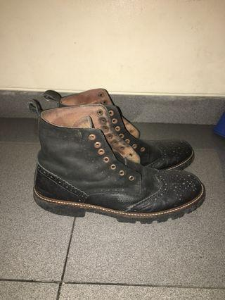Boots wingtip leather size 42