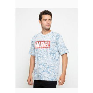 Kaos Marvel × Nevada ukiran m
