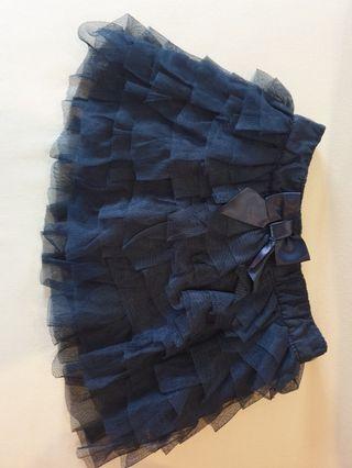 COTTON  ON KIDS Black Net Short Skirt
