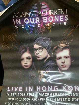 Against the Current 簽名海報