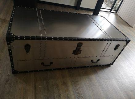 🚚 Metal Trunk Coffee Table