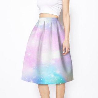 BN galaxy pastel midi skirt