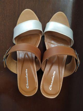 High heels 7cm - Tan Camel